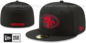 49ers NFL ALTERNATE TEAM-BASIC Black Fitted Hat by New Era