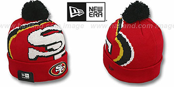 49ers 'NFL-BIGGIE' Red Knit Beanie Hat by New Era