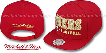 49ers 'NFL-BLOCKER SNAPBACK' Red Hat by Mitchell and Ness