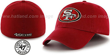 49ers NFL FRANCHISE Burgundy Hat by 47 Brand