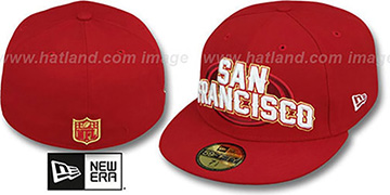 49ers 'NFL ONFIELD DRAFT' Red Fitted Hat by New Era