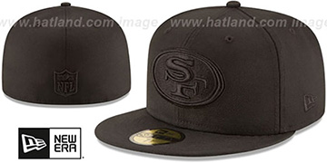 49ers NFL TEAM-BASIC BLACKOUT Fitted Hat by New Era
