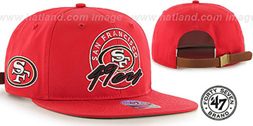 49ers NFL VIRAPIN STRAPBACK Red Hat by Twins 47 Brand