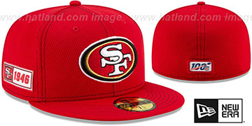 49ers 'ONFIELD SIDELINE ROAD' Red Fitted Hat by New Era