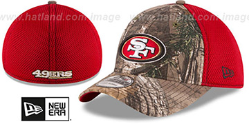 49ers REALTREE NEO MESH-BACK Flex Hat by New Era