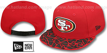 49ers RUBBER MATTE SNAPBACK Red Hat by New Era