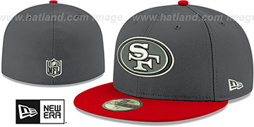 49ers SHADER MELT-2 Grey-Red Fitted Hat by New Era