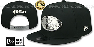 49ers SILVER METAL-BADGE SNAPBACK Black Hat by New Era