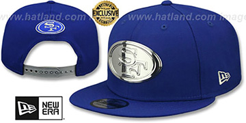 49ers SILVER METAL-BADGE SNAPBACK Royal Hat by New Era