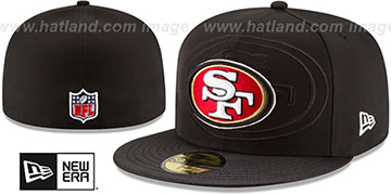 49ers 'STADIUM SHADOW' Black Fitted Hat by New Era