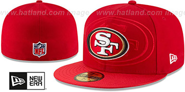 49ers 'STADIUM SHADOW' Red Fitted Hat by New Era