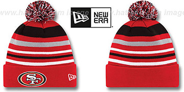 49ers 'STRIPEOUT' Knit Beanie Hat by New Era