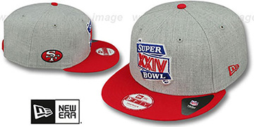 49ers SUPER BOWL XXIV SNAPBACK Grey-Red Hat by New Era
