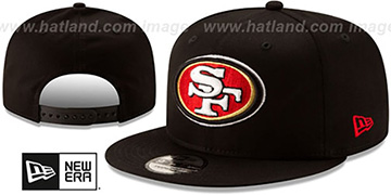49ers TEAM-BASIC SNAPBACK Black Hat by New Era