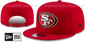49ers TEAM-BASIC SNAPBACK Red Hat by New Era