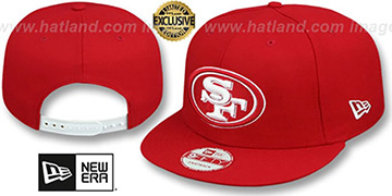 49ers TEAM-BASIC SNAPBACK Red-White Hat by New Era