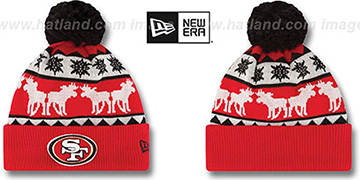 49ers THE-MOOSER Knit Beanie Hat by New Era