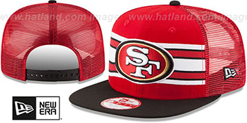 49ers 'THROWBACK-STRIPE SNAPBACK' Red-Black Hat by New Era