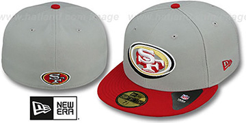 49ers 'TRACE-POP' Grey-Red Fitted Hat by New Era