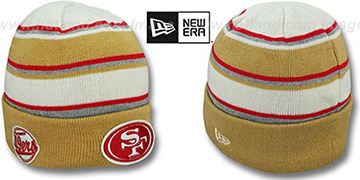 49ers 'WINTER TRADITION' Knit Beanie Hat by New Era