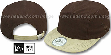 5-Panel 'CAMPER' Brown-Khaki Hat by New Era