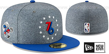 76ers '18-19 CITY-SERIES' Grey-Royal Fitted Hat by New Era