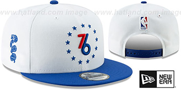 76ers 18-19 CITY-SERIES SNAPBACK White-Royal Hat by New Era