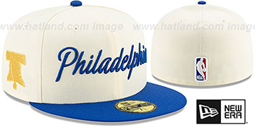 76ers 19-20 CITY-SERIES Cream-Royal Fitted Hat by New Era