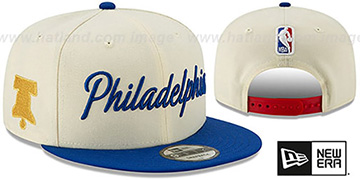 76ers 19-20 'CITY-SERIES' SNAPBACK Cream-Royal Hat by New Era