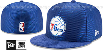 76ers '2017 ONCOURT DRAFT' Royal Fitted Hat by New Era