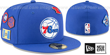 76ers 2018 NBA DRAFT Royal Fitted Hat by New Era