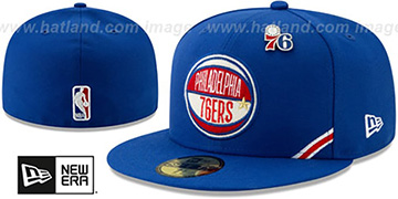76ers 2019 NBA DRAFT Royal Fitted Hat by New Era