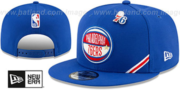 76ers 2019 NBA DRAFT SNAPBACK Royal Hat by New Era