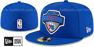 76ers '2020 NBA TIP OFF' Royal Fitted Hat by New Era