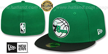 76ers 2T OPPOSITE-TEAM Green-Black Fitted Hat by New Era