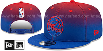 76ers BACK HALF FADE SNAPBACK Hat by New Era