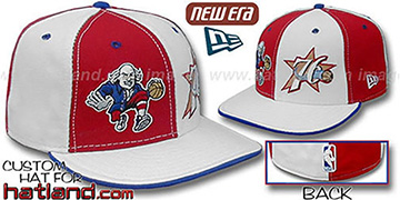 76ers 'BEN FRANKLIN' DW Red-White Fitted Hat