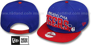 76ers 'CHENILLE-ARCH SNAPBACK' Royal-Red Hat by New Era