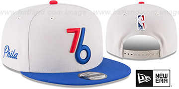 76ers 'CITY-SERIES SNAPBACK' White-Royal Hat by New Era