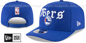 76ers CLASSIC-CURVE SNAPBACK Royal Hat by New Era