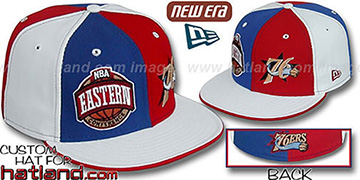 76ers CONFERENCE DOUBLE WHAMMY Fitted Hat by New Era