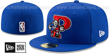 76ers DECEPTORED Royal Fitted Hat by New Era