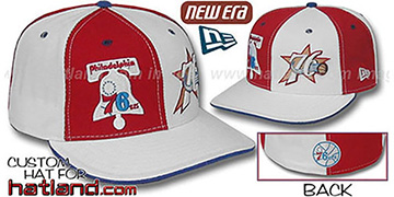 76ers DW THEN and NOW Red-White Fitted Hat