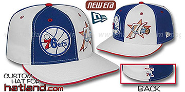 76ers DW THEN and NOW Royal-White Fitted Hat
