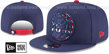 76ers 'FLAG FILL INSIDER SNAPBACK' Navy Hat by New Era