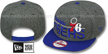 76ers 'FLANNEL SNAPBACK' Grey-Royal Hat by New Era
