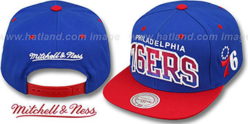76ers GRADIANT-ARCH SNAPBACK Royal-Red Hat by Mitchell & Ness