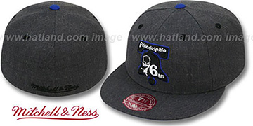 76ers 'GREY HEDGEHOG' Fitted Hat by Mitchell & Ness