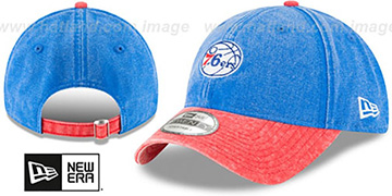 76ers 'GW RUGGED CANVAS STRAPBACK' Royal-Red Hat by New Era