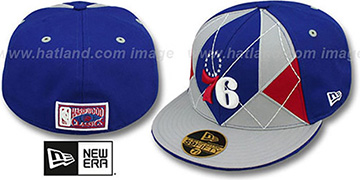 76ers 'HARDWOOD BRADY' Royal-Grey Fitted Hat by New Era
